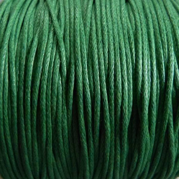 Baumwollband - 1 mm gewachst grün