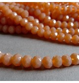 Glasschliff Perle - 6 mm lachs