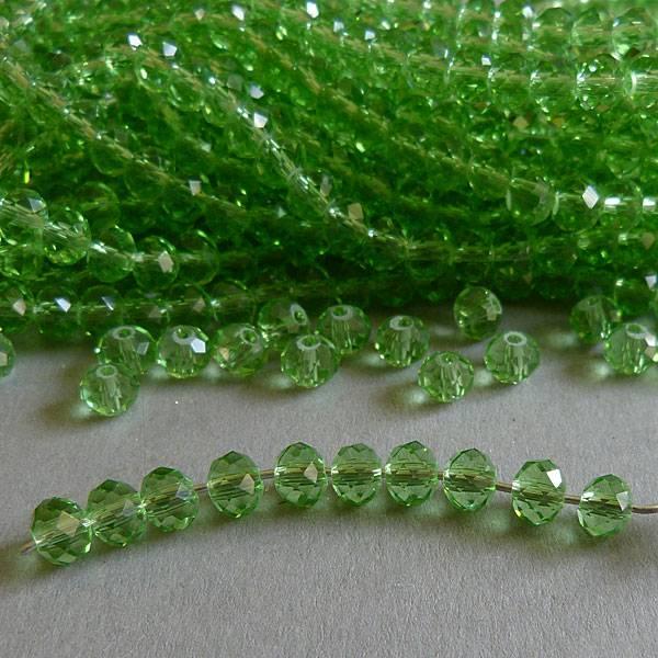 Glasschliff Perle - 6 mm grün
