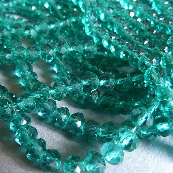 Glasschliff Perle - 6 mm zart petrol