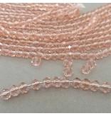 Glasschliff Perle - 6 mm rosa