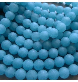 Blau Quarz Perle 8,5 mm - matt