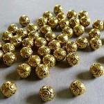 Metall Perlen goldfarben - vergoldet