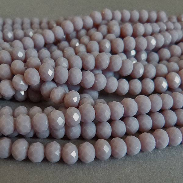 Glasschliff Perle - 6 mm lila
