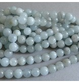 Aquamarin Perle 6,5 mm