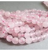 Rosenquarz Perle 6,3 mm - facettiert