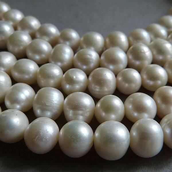 Zucht Perlen Strang 8 mm