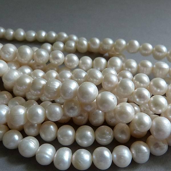 Zucht Perlen Strang 7 -8 mm