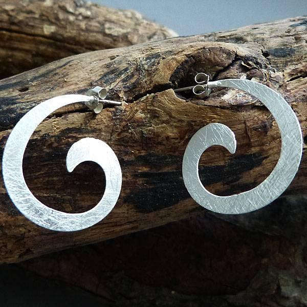 Campur GmbH 1 Paar Silber Stecker Spirale
