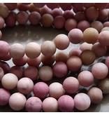 Rhodochrosit Perle 6 mm - matt