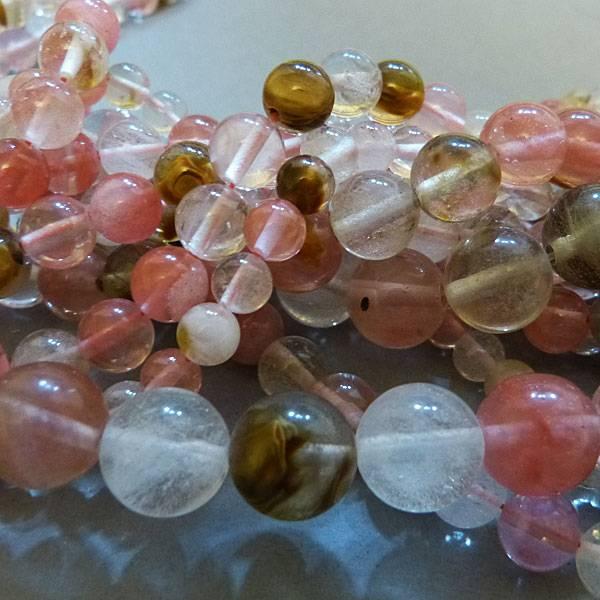 Cherry Quarz Perle 8 mm