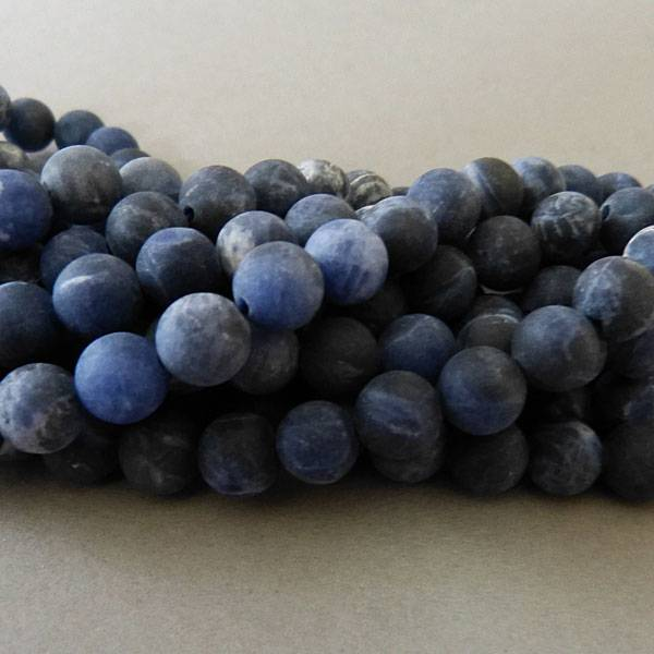 Sodalith Perle 8,6 mm - matt