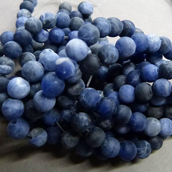 Sodalith Perle 6,5 mm - matt