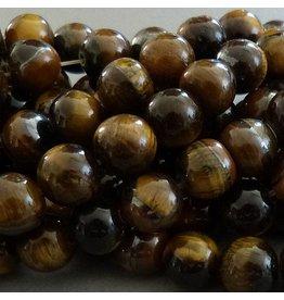Tigerauge Perle 12 mm