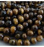 Tigerauge Perle 6,4 mm