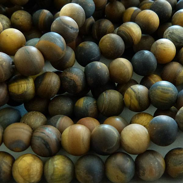 Tigerauge Perle 8,5  mm - matt