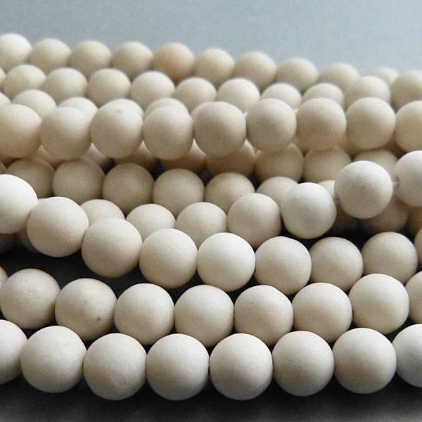 Jaspis Perle kalk weiß 8,4 mm - matt