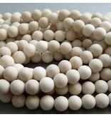 Jaspis Perle kalk weiß 6,5 mm - matt
