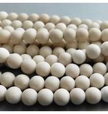 Jaspis Perle kalk weiß 10 mm - matt