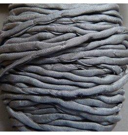 Habotai Seidenbänder Seidenband grau - 3 mm - 1,10 Meter