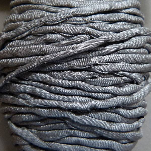 Habotai Seidenbänder Habotai Seidenband grau - 3 mm - 1,10 Meter
