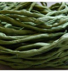 Habotai Seidenbänder Seidenband olive - 3 mm - 1,10 Meter