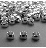 Kaschier Perle versilbert - 6 mm