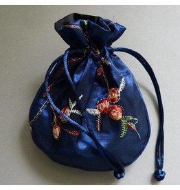 Schmuck Beutel blau 14 cm