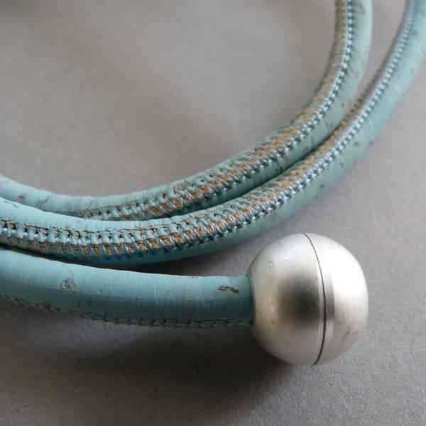 Korkband türkis, rund - 5 mm