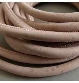 Korkband rosa, rund - 5 mm