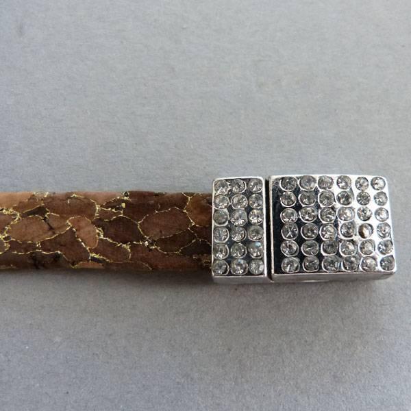 Korkband braun, flach - 10 mm