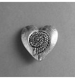 Metall Herz Perle  - 30 mm