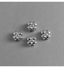 Metall Kleeblatt Perle - 10 mm