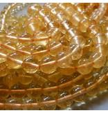 Citrin Perle gelb 6,5 mm
