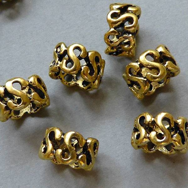 Metall Rolle  - 10 mm - goldfarben
