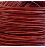 Lederband orange, rund - 1 mm