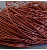 Lederband alt rosa, rund - 1 mm