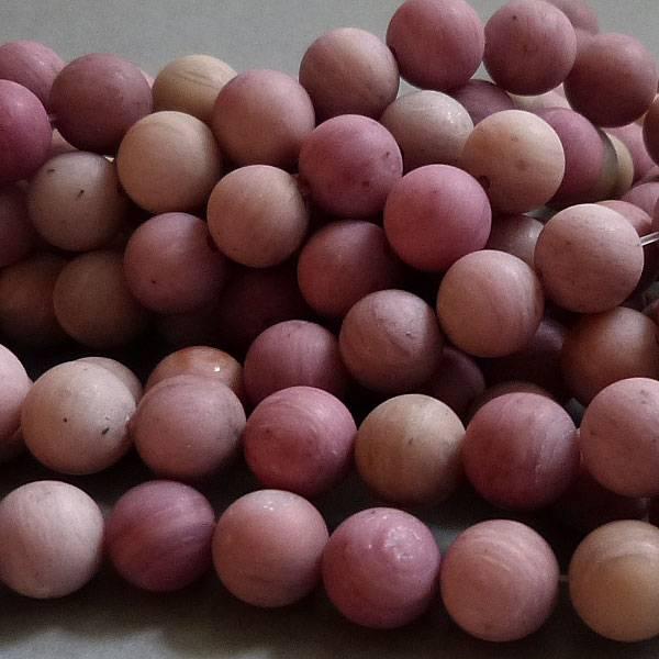 Rhodochrosit Perle 8,6 mm - matt