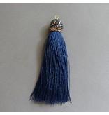 Quaste - marine blau - 90 mm
