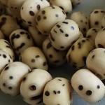 Kokos - Samen - Muschel - Bhodi  und Rudraksha Perlen