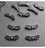 Metall Perle Flügelform - 20 mm
