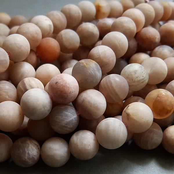 Sonnenstein Perle 8 mm - matt