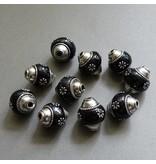 Kashmiri Perle 18 mm - schwarz
