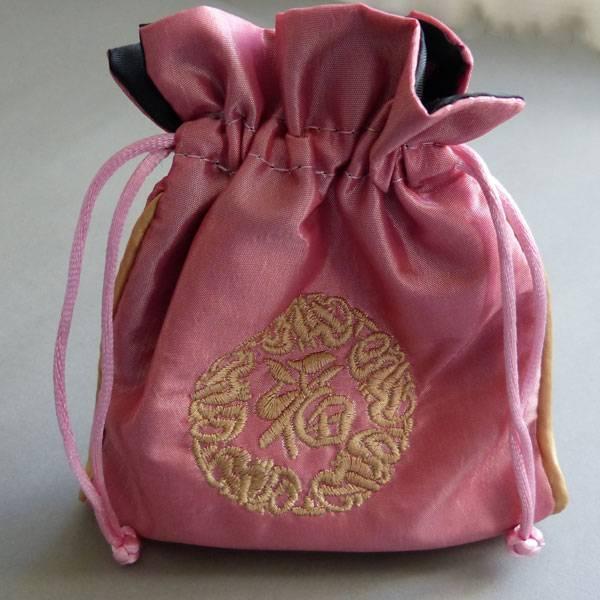 Schmuck Beutel rosa 14 cm