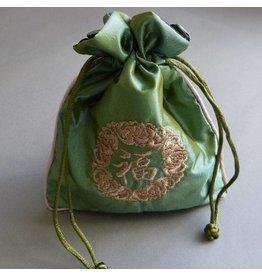 Schmuck Beutel grün 14 mm