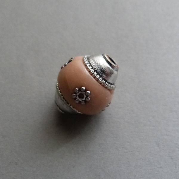 Kashmiri Perle 18 mm - lachs