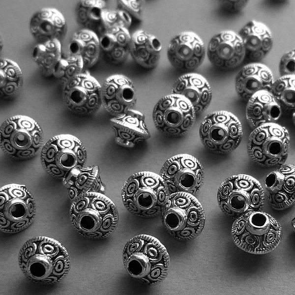 Metall Perle - 6 mm