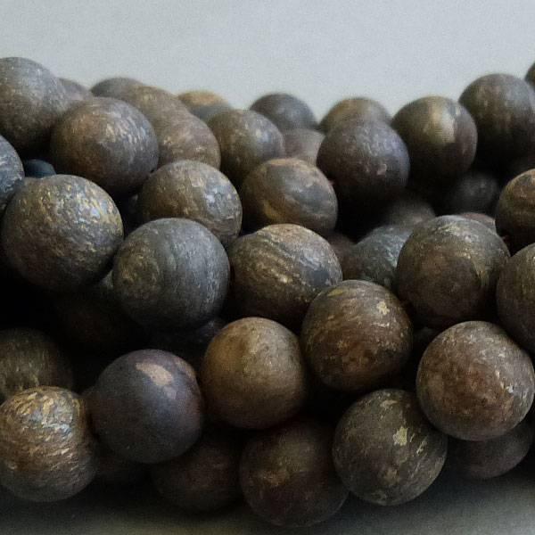 Bronzit Perle 6 mm - matt