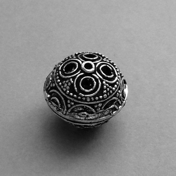 Metall Perle - 20 mm  - Hohl Perle