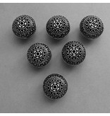 Metall Perle - 18 mm  - Hohl Perle